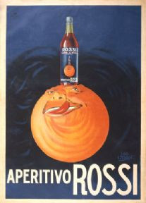 Aperitivo Rossi - Vintage Alcohol Advertising Poster